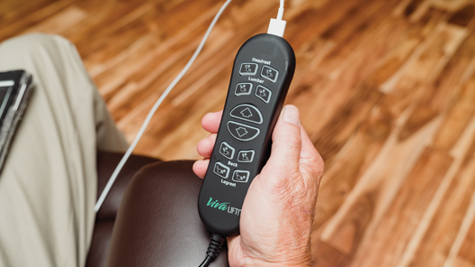 Image of lift chair USB remote.